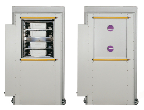The special system TETRA-400-LF-PC has a automatical sliding door