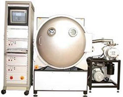 Plasma system TETRA-600-LF-PC with rotary drum - plasma sytems for surfaces